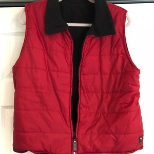 Reversible Red & Black Vest
